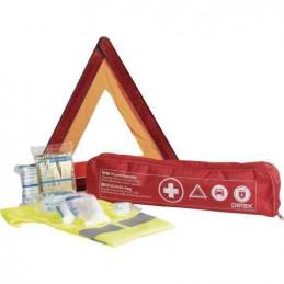 Kit securite, premiers secours Gilet, Triangle + kit secours