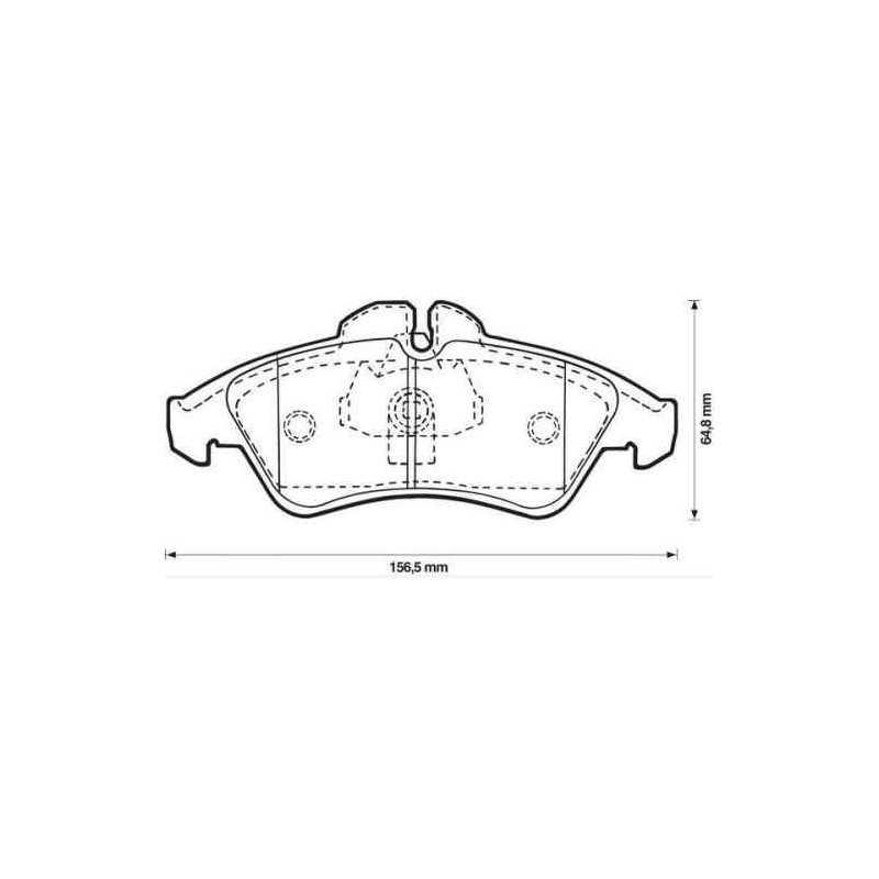 Brembo P50080 Plaquettes de Frein Avant