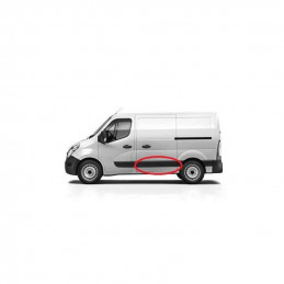Baguette, protection, moulure de porte laterale gauche Nissan Interstar Opel Movano Renault Master