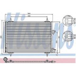 CO2310 Condenseur, climatisation Peugeot 307 + SW + CC+ Break avant 08/2004 122,60 €