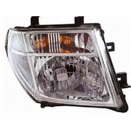 Optique phare droit Nissan Navara de 01/08 à 12/09
