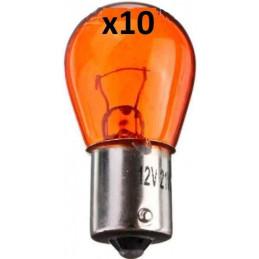10 Ampoules Orange Clignotant avant arriere PY21W