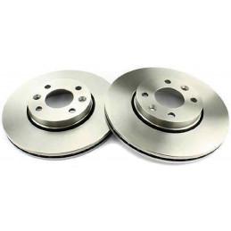 Jeu 2 disques de freins avant EICHER Dacia logan Nissan micra note Renault clio 3 megane 2 modus