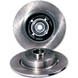 Jeu de 2 disques de frein plein a/roulement Eicher Citroen C3 picasso C4 DS3 Peugeot 207 307