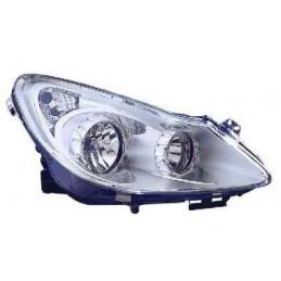 Optique Droit H7+H1 elect. Fond clair Opel CORSA D