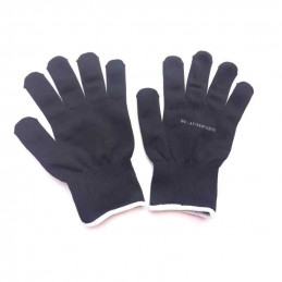 Paire de gants de protection en tissu noir Taille S