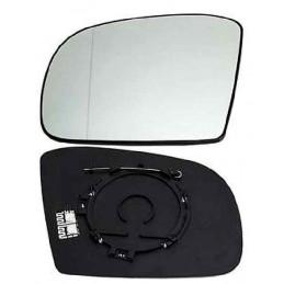 Glace de retroviseur, miroir  chauffant + support Mercedes Classe ML avant 2008 chrome