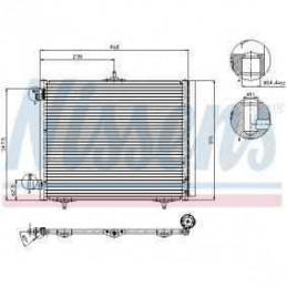 CO4550 Condenseur Climatisation Citroen C2 C3 C4 DS3 Peugeot 207 208 308 1007 2008 129,90 €