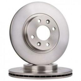 J3301094 Jeu de 2 disques de frein avant ventilés Dacia Logan Sandero Nissan Kubistar Renault 19 Clio Kangoo Megane Thalia Tw...