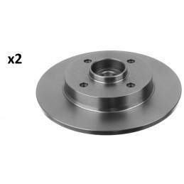 104735329 Jeu de 2 disques de frein arriere avec roulement de roue EICHER Citroen C4 Peugeot 307 145,00 €