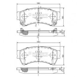 Jeu de plaquettes de frein Nipparts pour Mazda 6