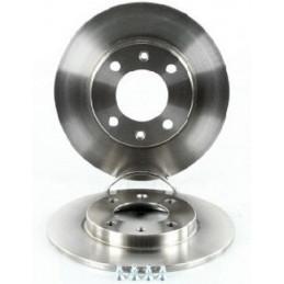 Jeu de 2 disques de frein arriere plein EICHER pour Citroen Saxo Xsara Zx Peugeot 106 206 306
