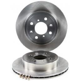 Jeu de 2 disques de frein avant EICHER pour Opel Agila Subaru Justy Suzuki Ignis