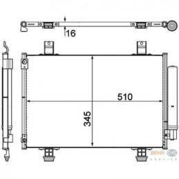 Condenseur, radiateur climatisation pour Suzuki Swift 3 4