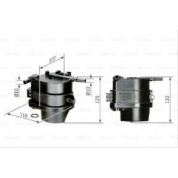 Filtre à carburant BOSCH pour Citroen C2 C3 Nemo Ford Fiesta 5 6 Fusion Mazda 2 Peugeot 107 206 207 1007 Bipper Toyota