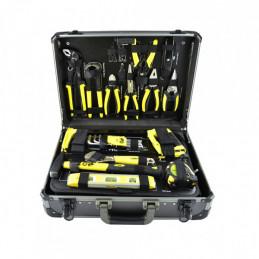 """53160 Malette Coffret d'outils douilles en aluminium 198 pièces 1/2"""" et 1/4"""" 284,90 €"""