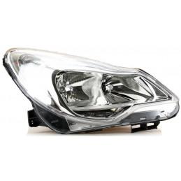 Optique, phare avant droit H1+H7 electrique A/moteur pour Opel Corsa D à partir de 02/11 boitier CHROME
