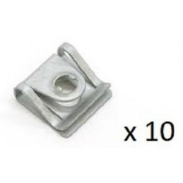 10 clips, ecrous, pattes metalique, agrafes, vis de protection de cache sous moteur pour Audi Seat Skoda Vw