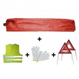 KIT DE SÉCURITÉ 2 TRIANGLES POCHETTE MINI Rouge