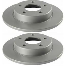 Jeu de 2 disques de frein arrière NIPPARTS pour Mazda 3