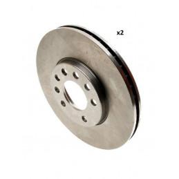 Jeu de 2 disques de frein avant EICHER pour Citroen C1 Peugeot 107 108 206 Toyota Aygo