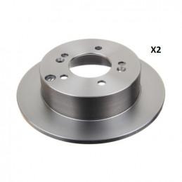 Jeu de 2 disques de frein arrière NIPPARTS pour Kia Carens 3