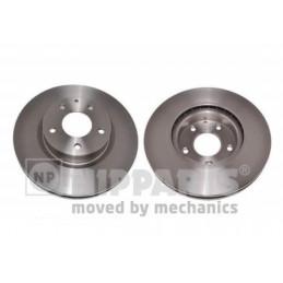 Jeu de 2 disques de frein avant NIPPARTS pour Mazda 3 CX-3 N3303101