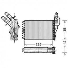Radiateur de chauffage intérieur pour Renault Clio 2