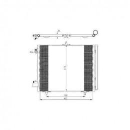86003 Radiateur condensateur de climatisation pour Citroen C3 et Peugeot 207 49,98 €