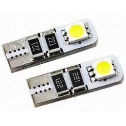 Lot de 2 Ampoules veilleuse LED effet Xenon  w5w t10