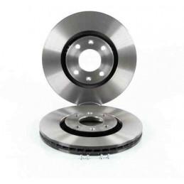 104735159 Jeu de 2 disques de frein avant EICHER Citroen Berlingo C3 C4 DS4 Peugeot 2008 206 207 307 3008 308 1007 5008 Partn...