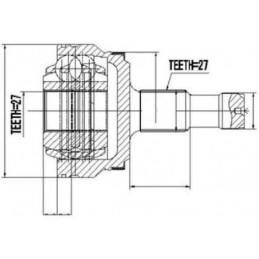 Joint d'articulation d'arbre de transmission arrière extèrieure Mercedes Classe E-Classe GLK-Classe S-CLS